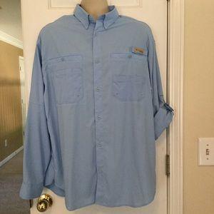 Columbia pfg long Sleeved Vented Fishing Shirt Lg